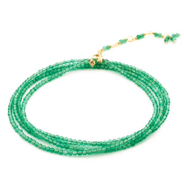 ANNE SPORTUN Green Onyx Beaded Wrap Bracelet photo