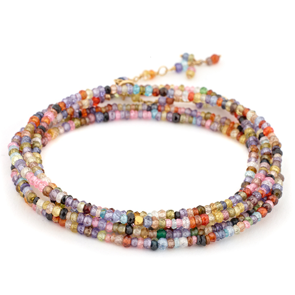ANNE SPORTUN Multi-Colored Beaded Wrap Bracelet photo