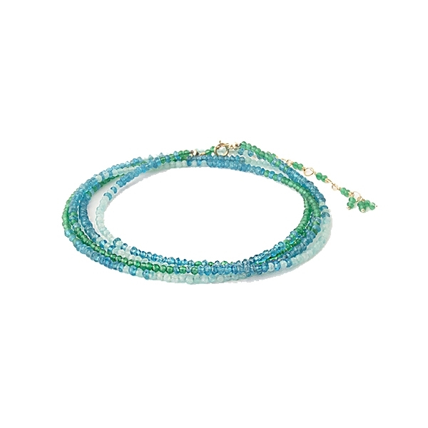 ANNE SPORTUN Ombre Ocean Beaded Wrap Bracelet photo