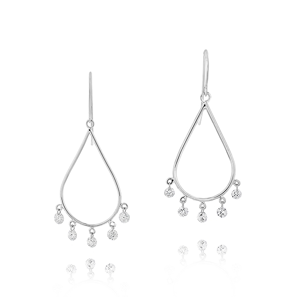 ARESA Diamond Teardrop Earrings photo