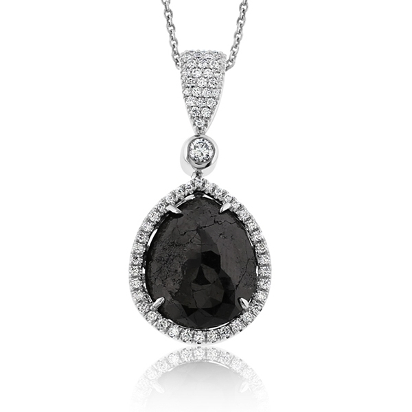 Black & White Diamond Pendant photo