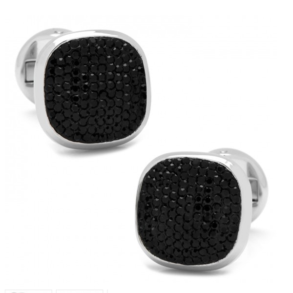 Black Crystal Cufflinks  photo
