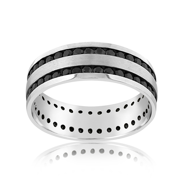 Black Sapphire Eternity Band photo