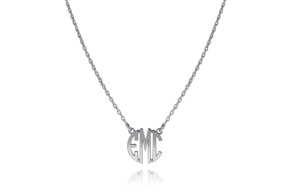 Block Letter Monogram Necklace photo