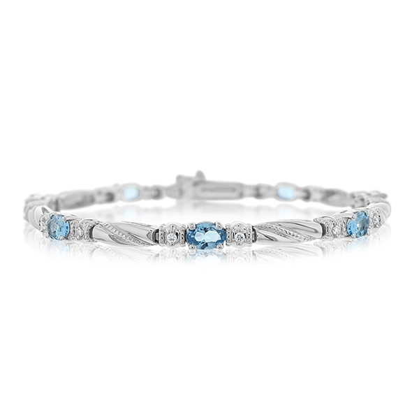 Blue Topaz & Diamond Bracelet photo