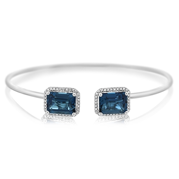 Blue Topaz & Diamond Cuff photo