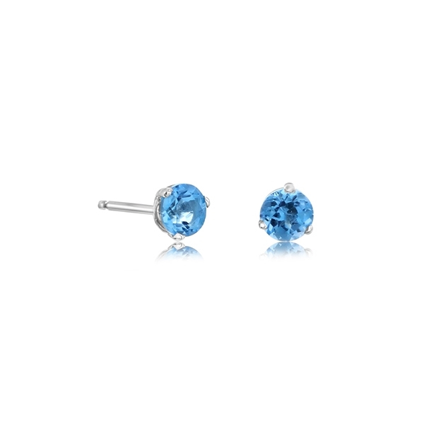 Blue Topaz Stud Earrings photo