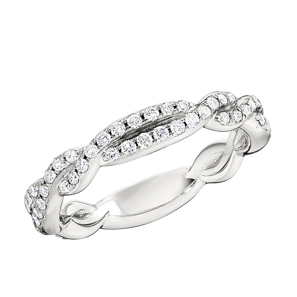 Braided Diamond Wedding Band photo