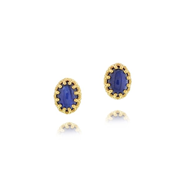 Cabachon Sapphire Earrings photo