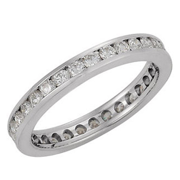 Channel Diamond Eternity Band photo