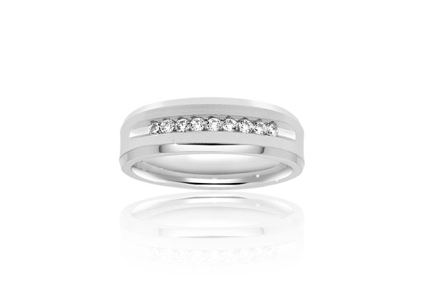 Channel Diamond Wedding Band photo