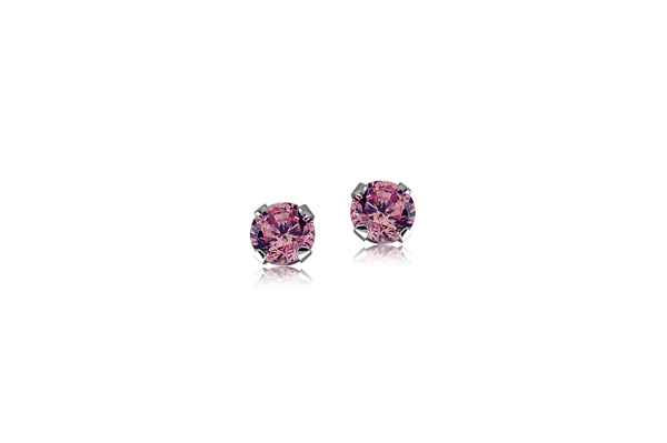 Children's Pink Stud Earrings photo