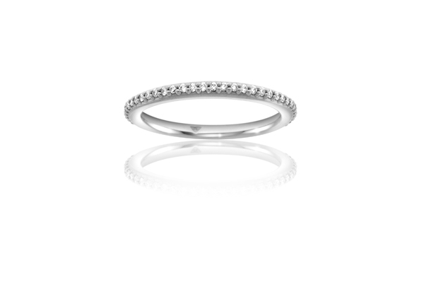 Classic Diamond Wedding Band photo