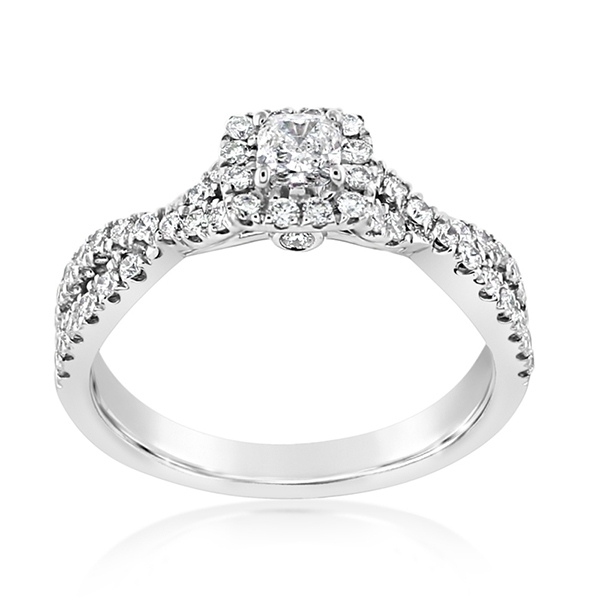 Complete 0.75 Carat Diamond Engagement Ring  photo