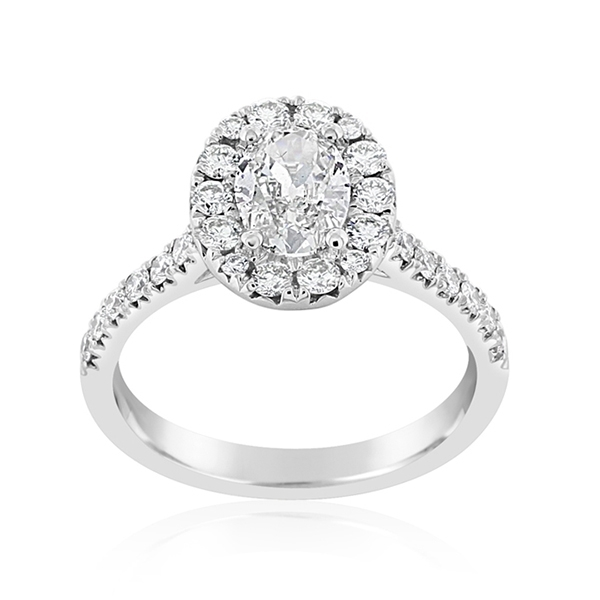 Complete 1.32 Carat Halo Diamond Engagement Ring photo