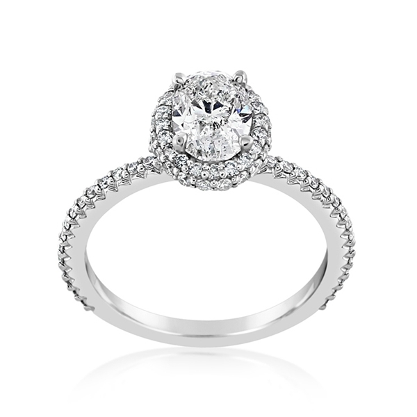 Complete 1.40 Carat Diamond Engagement Ring photo
