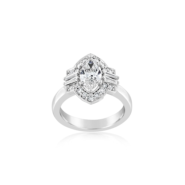 Complete 1.64 Carat Diamond Engagement Ring photo