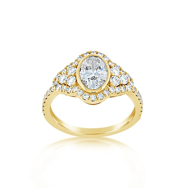 Complete 1.74 Carat Diamond Engagement Ring photo