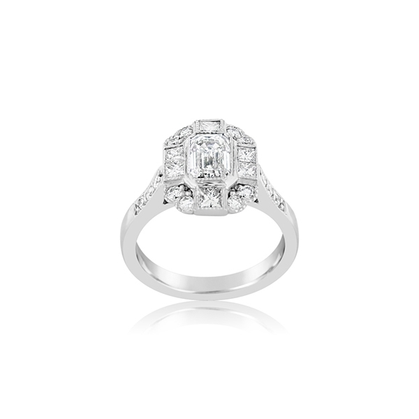 Complete 1.76 Carat Diamond Engagement Ring photo