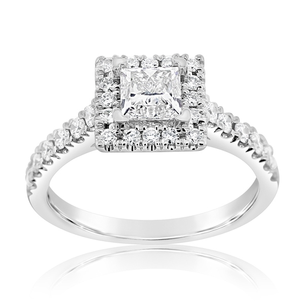 Complete 1.95 Carat Diamond Engagement Ring photo