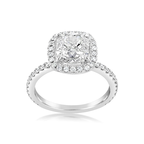 Complete 2.88 Carat Halo Engagament Ring photo