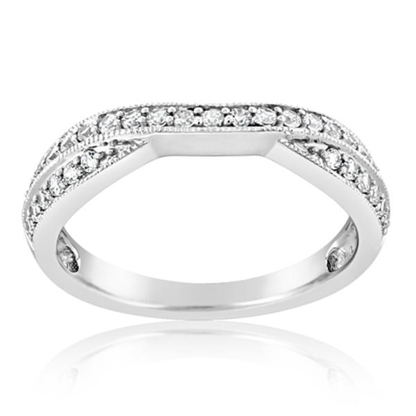Contoured Diamond Wedding Band photo
