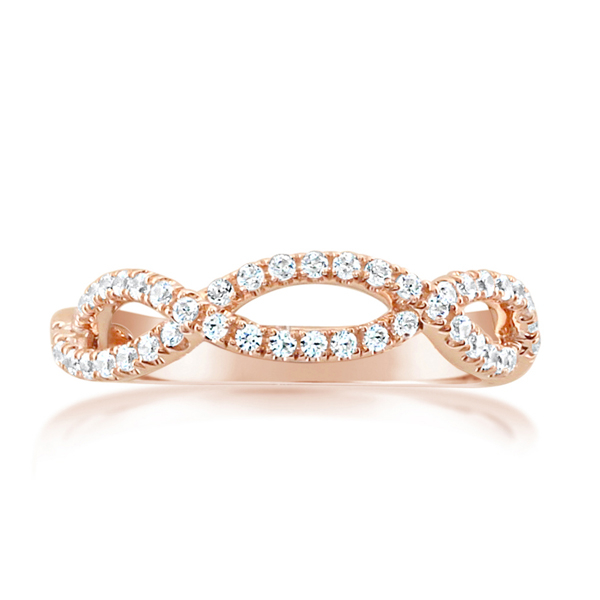 Crisscross Diamond Wedding Band photo