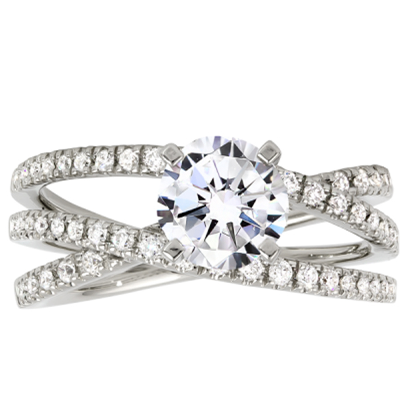 Engagement And Wedding Rings.Crossover Diamond Engagement Ring Reis Nichols Jewelers