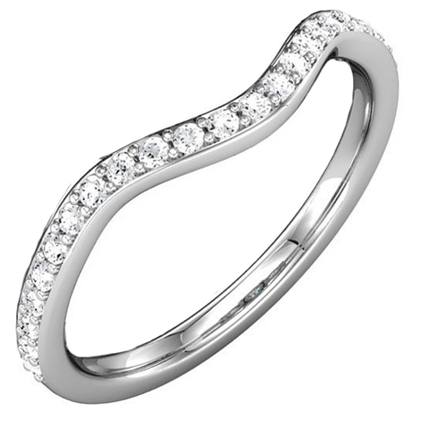 Curved Diamond Wedding Band Reis Nichols Jewelers