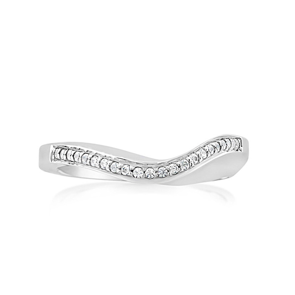 Curved Diamond Wedding Band photo