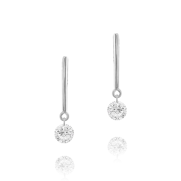 Diamond  Bar Earring photo