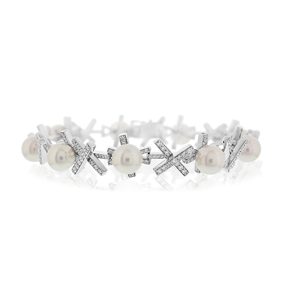 Diamond & Pearl Bracelet photo