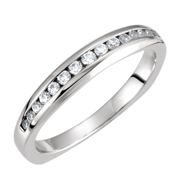 Diamond Channel Set Wedding Band  photo