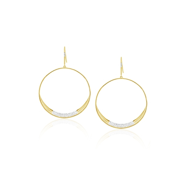 Diamond Circle Earrings photo