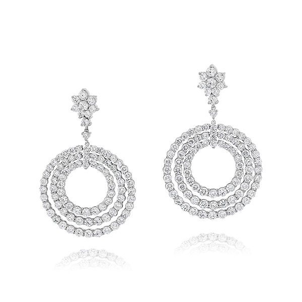 Diamond Circle Fashion Earrings photo