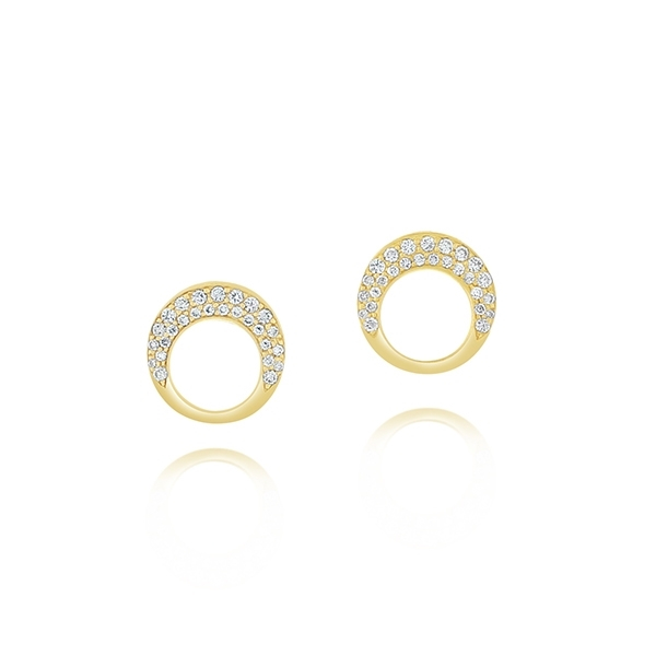 Diamond Circle Studs photo