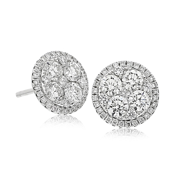 Diamond Cluster Earrings photo