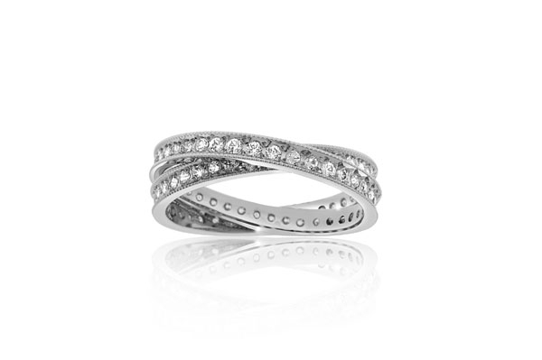 Diamond Crossover Ring photo