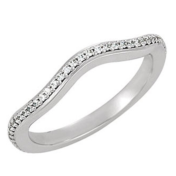 Diamond Curved Wedding Band Reis Nichols Jewelers
