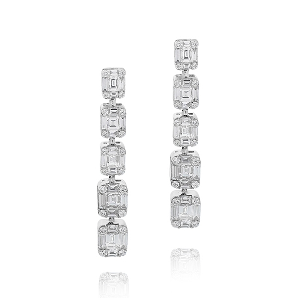 Diamond Dangle Earrings photo