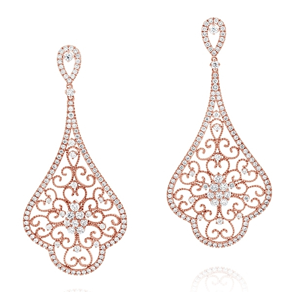 Diamond Filligree Earrings photo