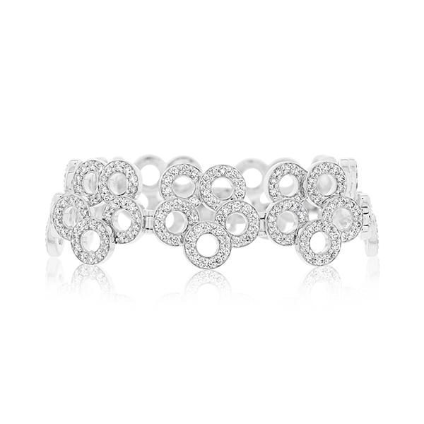Diamond Flower Bracelet photo