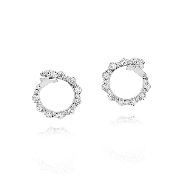 Diamond Front-To-Back Hoop Earrings photo