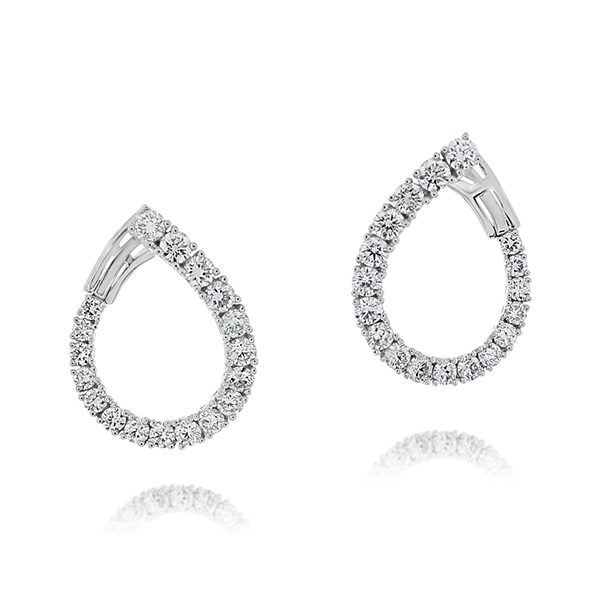 Diamond Front to Back Hoops photo