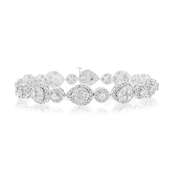 Diamond Halo Bracelet photo