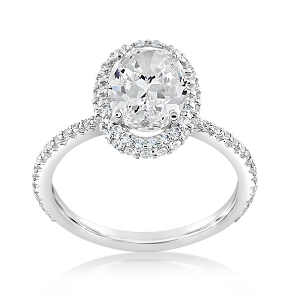 Diamond Halo Engagement Ring photo