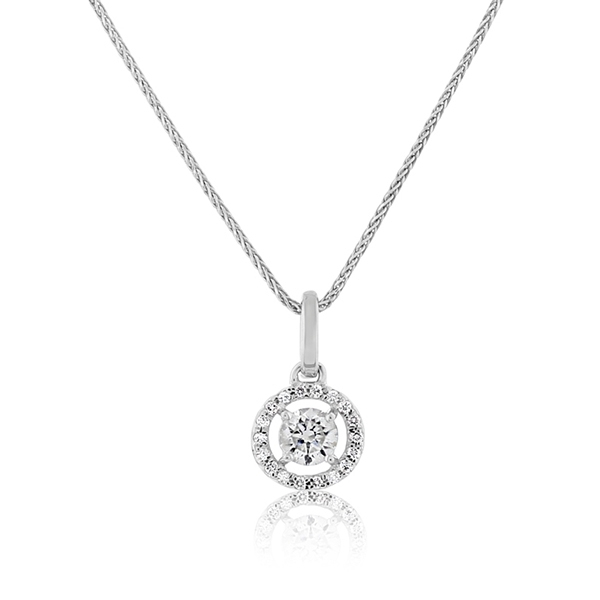 Diamond Halo Pendant photo