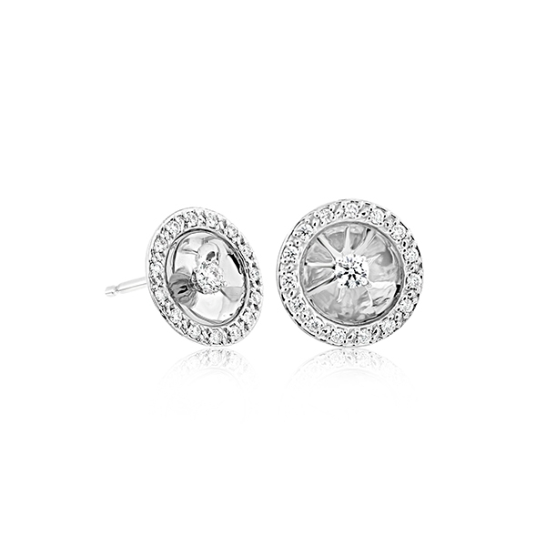 Diamond Halo Studs photo