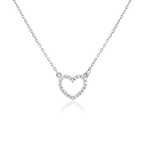 Diamond Heart Necklace photo