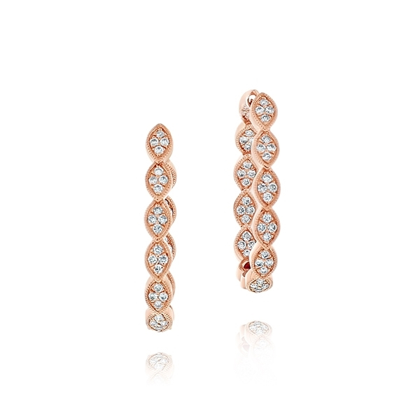 Diamond Hoop Earrings photo